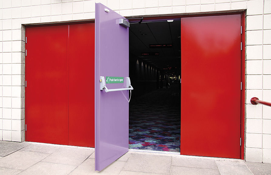 Steel Security Fire Exit and Fire Rated Door