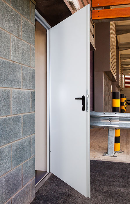 Single Steel Security Exit Door