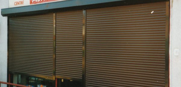 CetraShield 60 Aluminium Security Roller Shutter in Brown Finish