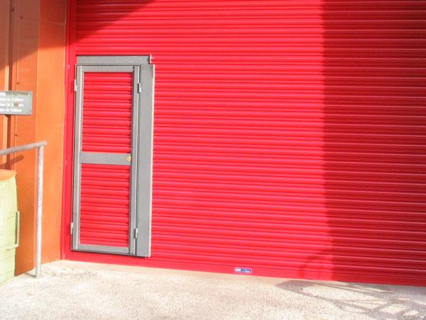 CS75 Roller Shutter with Wicket Door
