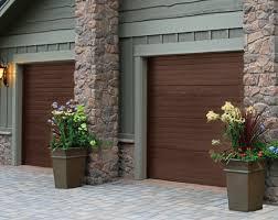 Sectional Garage Door in Woodgrain Finish