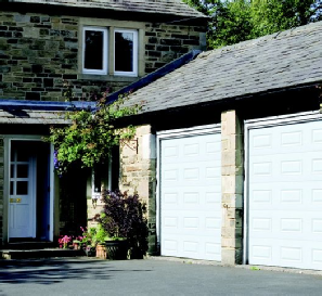 Sectional Garage Doors in White
