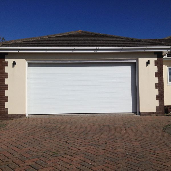 SeceuroGlide Sectional Garage Door With Ribbed Panels