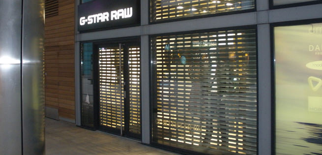 See-Through Security Roller Shutter with Silver Finish