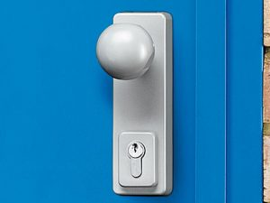 Round door knob & key lock