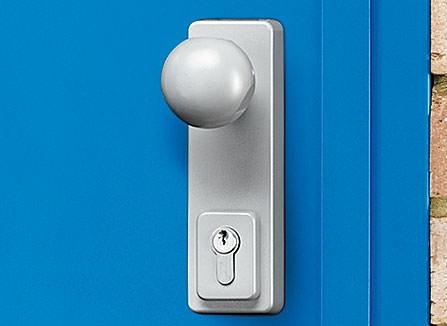 Round door knob & key lock