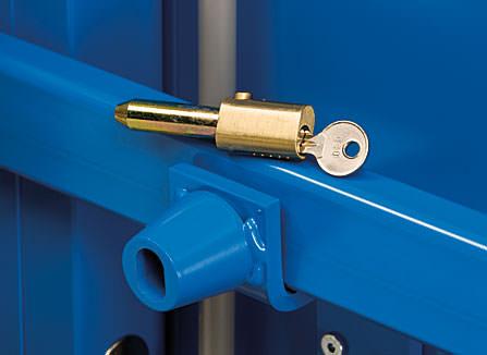 Security door bullet lock