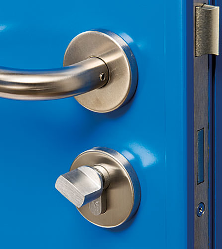 Steel security door sash lock